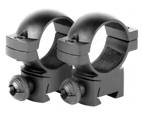 "Aim Sports 1"" Medium Weaver Rail Ring Scope Mounts (QW10S)"