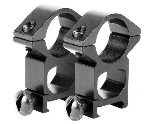 "Aim Sports 1"" Ring Scope Mounts w/ Weaver Rail Base (QW10T)"