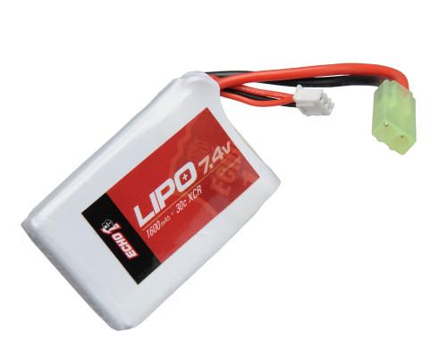 Echo1 LiPo Airsoft Battery - 7.4v 1600mAh (LIPO7)