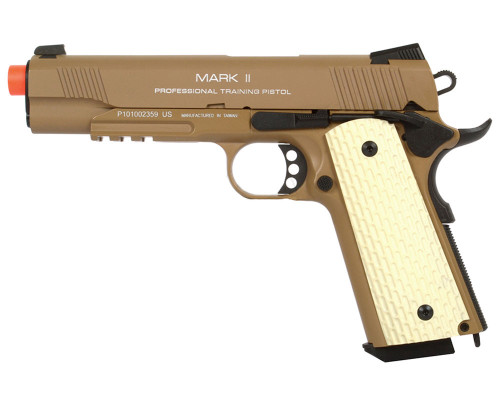 KWA Gas Blow Back Airsoft Pistol - M1911 MKII PTP (Tan)