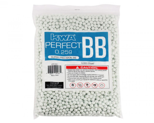 .25g Airsoft BB's - 3000 Count -KWA Perfect