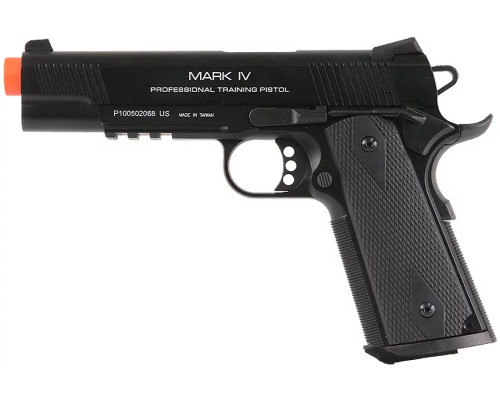 KWA Gas Blow Back Airsoft Pistol - M1911 MKIV PTP (Black)