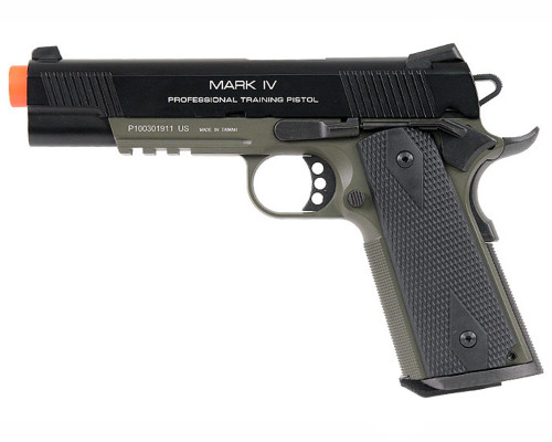 KWA Gas Blow Back Airsoft Pistol - M1911 MKIV PTP (Olive)