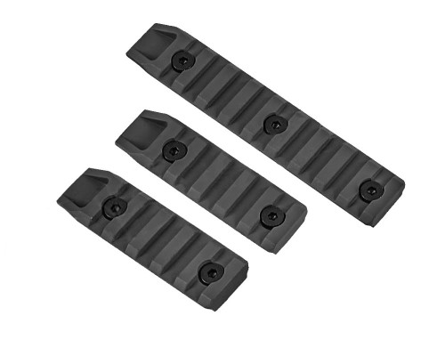 Echo 1 Airsoft Part - 3 Piece Keymod Rail Slot (Black)