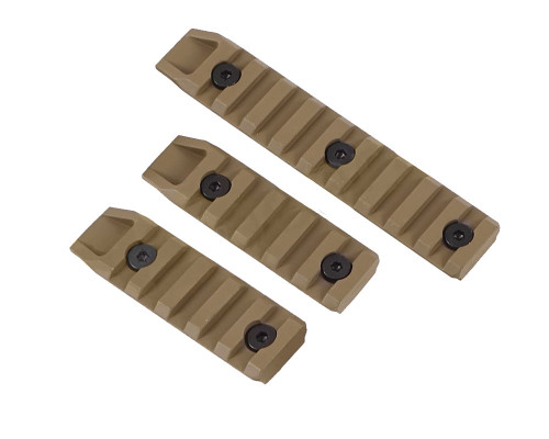 Echo 1 Airsoft Part - 3 Piece Keymod Rail Slot (Tan)