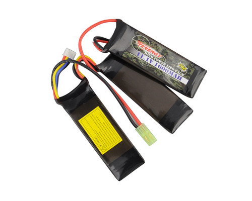 Tenergy Airsoft Battery - LiPo 11.1v 1600mAh (20C Nunchuck)