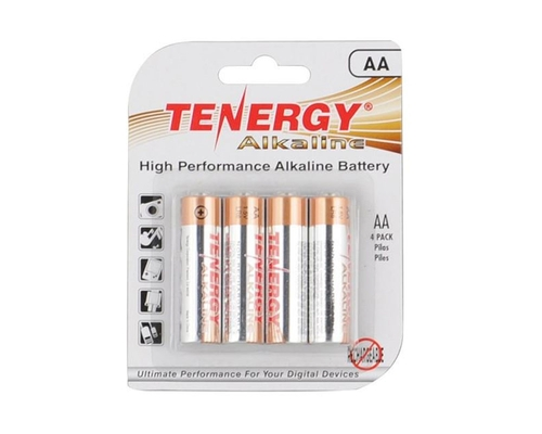 Tenergy Alkaline Batteries - AA 4 Pack