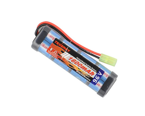 Tenergy Airsoft Battery - Ni-MH 9.6v 1600mAh (Flat)