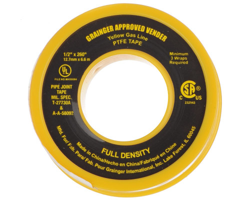 "Thread Seal Tape (Yellow) - 1/2"" x 260"""