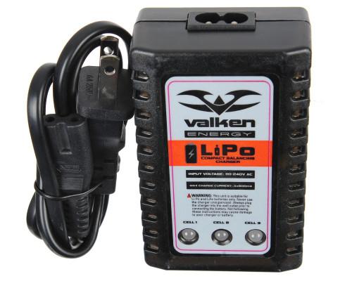 Valken Airsoft LiPo/LiFE Compact Balancing 2-3 Cell Airsoft Charger (65396)