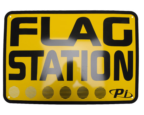 "Paintball Field 20"" x 14"" Safety Signs - Flag Station"
