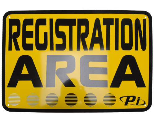 """Paintball Field 20"""" x 14"""" Safety Signs - Registration Station"""
