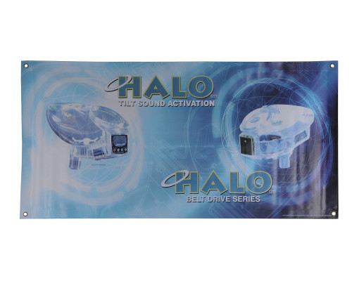 """Halo Odyssey Loader 48"""" x 24"""" Paintball Banner"""