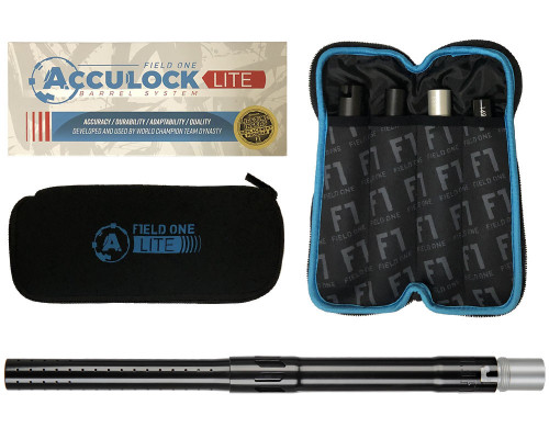 Field One AutoCocker Threaded Acculock Lite Barrel Kit - Gloss Black
