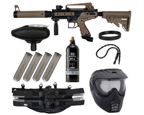 Epic Gun Package Kit - Tippmann Cronus Tactical .50 CAL - Black/Dark Earth