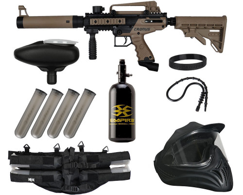 Legendary Gun Package Kit - Tippmann Cronus Tactical .50 CAL - Black/Dark Earth