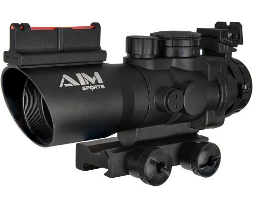 Aim Sports 4X32mm Prismatic Series Scope w/ Tri-Illumination & Arrow Reticle (JTAPO432G)