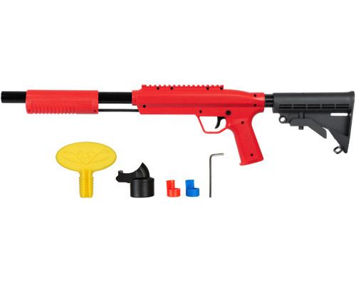 Valken Gotcha Tactical .50 Caliber Shotgun Paintball Marker w/ Stock - Red