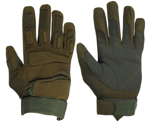 Warrior Full Finger Padded Gloves - Olive