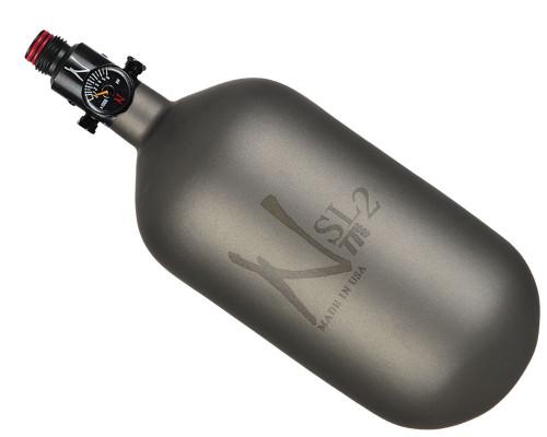 Ninja Paintball 77 ci 4500 psi SL2 Carbon Fiber HPA Tank Systems - Gunsmoke (Cerakote Finish)