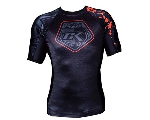 Contract Killer Black Short Sleeve Rashguard Undershirt - STAINED