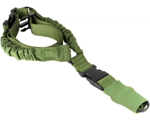 Aim Sports Quick Detach Single Point Bungee Rifle Sling - Green (AOPS01G)