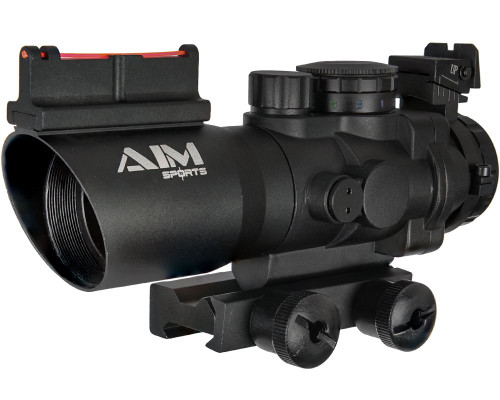 Aim Sports 4x32mm Prismatic Recon Rifle Scope w/ Tri-Illumination & Circle Plex Reticle (JTCPO432G)
