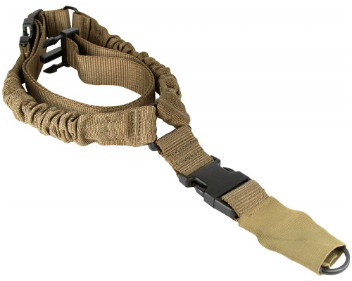 Aim Sports Quick Detach Single Point Bungee Rifle Sling - Tan (AOPS01T)