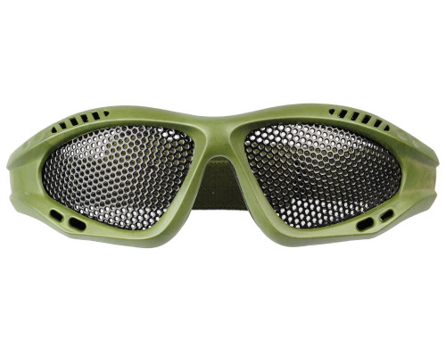 Lightweight Tactical Airsoft Goggles w/ Full Metal Mesh Eye Protection