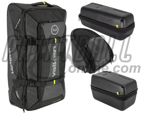 Valken Phantom Rolling Gear Bag/Goggle Case/Loader Case/ & Tank Case Combo Pack