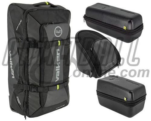 Valken Phantom Rolling Gear Bag/Goggle Case/Loader Case/ & Tank Case Combo Pack