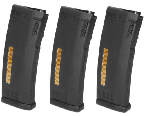 KWA Airsoft Magazine - M4/M16 MS120C Adjustable ERG/AEG 2.5/AEG 3 Mid-Cap (3 Pack)