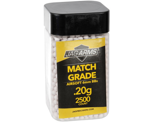 .20g Airsoft BB's - 2500 Count - Jag Arms Match Grade (White)