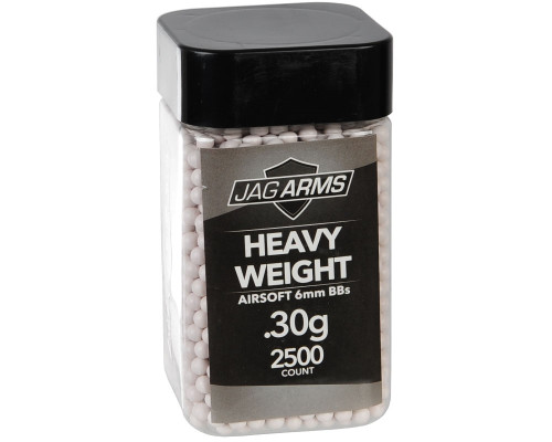 .30g Airsoft BB's - 2500 Count - Jag Arms Heavy Weight (White)
