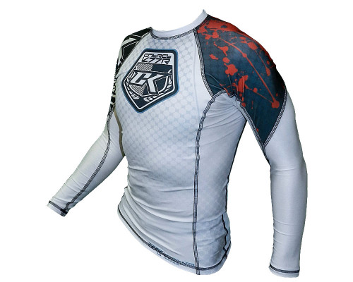 Contract Killer Stained Rash Guard MMA Shirt (Long Sleeve)