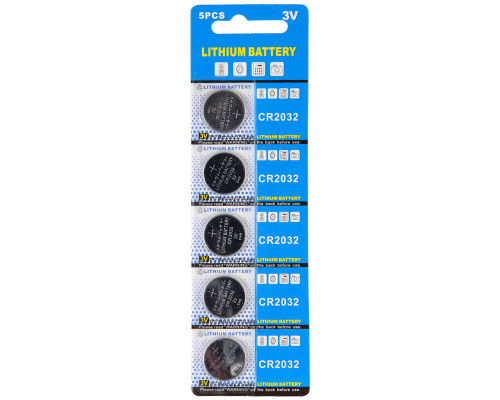 Warrior Battery - Lithium 3V CR2032 (5 Pack)