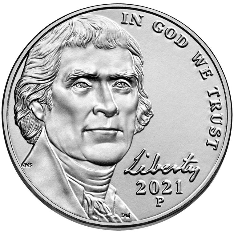 2021 Philadelphia Jefferson Nickel Uncirculated Roll