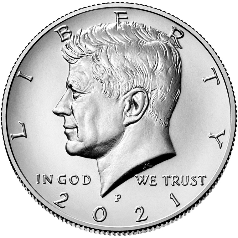 2021 Philadelphia Kennedy Half Dollar Uncirculated Roll