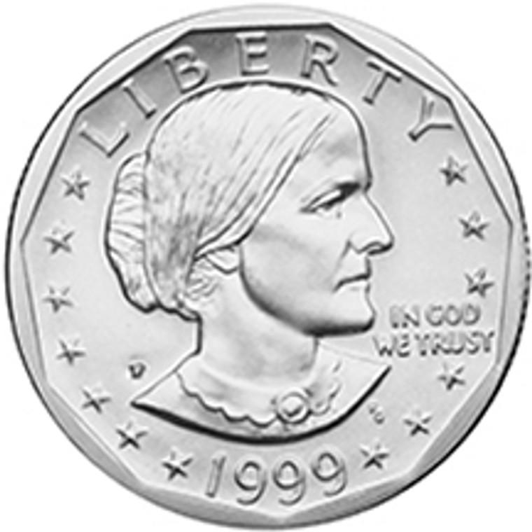 1999 Philadelphia Susan B Anthony Dollar Uncirculated Roll