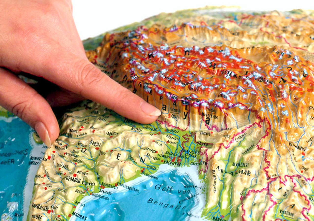 25 inch Extreme Raised Relief Globe