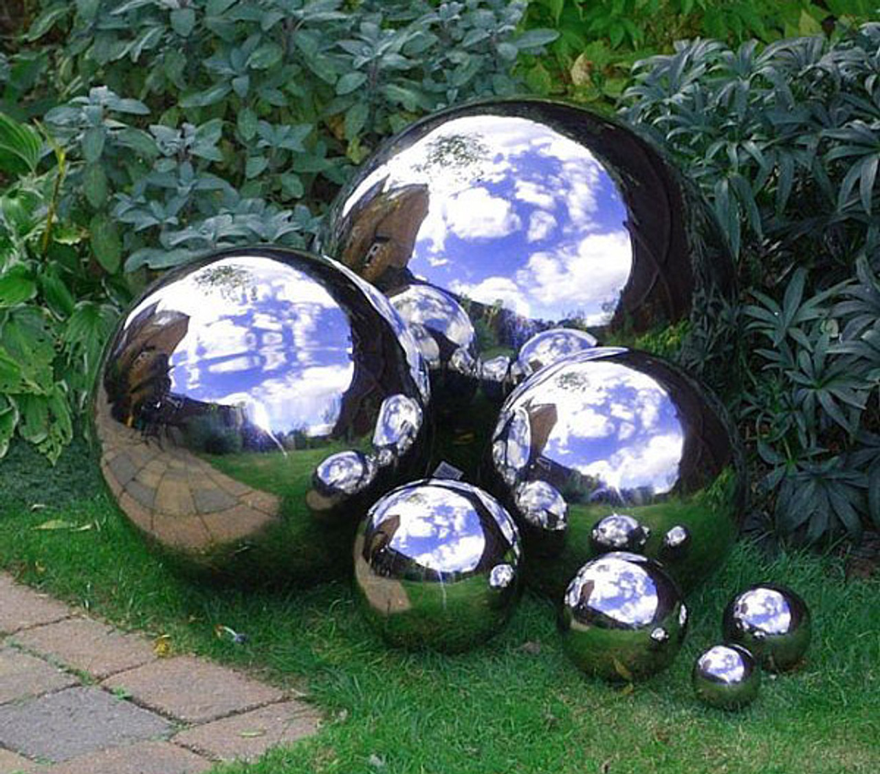 Gazing Balls Stainless Steel Garden Globes
