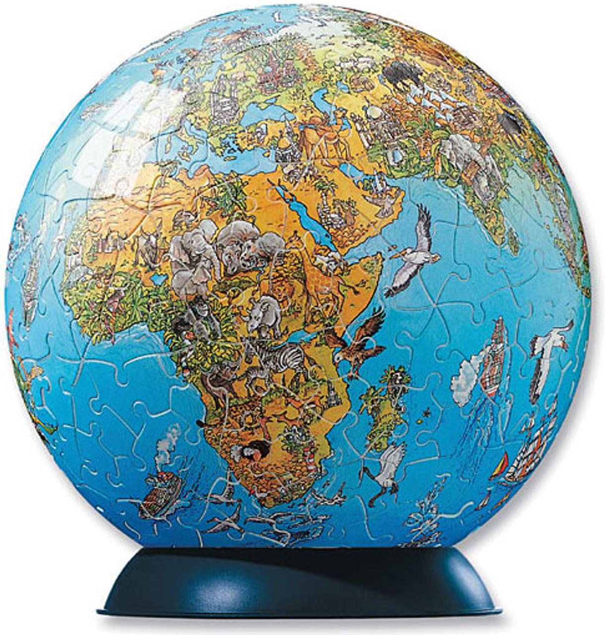 Illustrated World Map Puzzle Globe