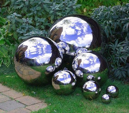 Gazing Balls - Stainless Steel Garden Globes