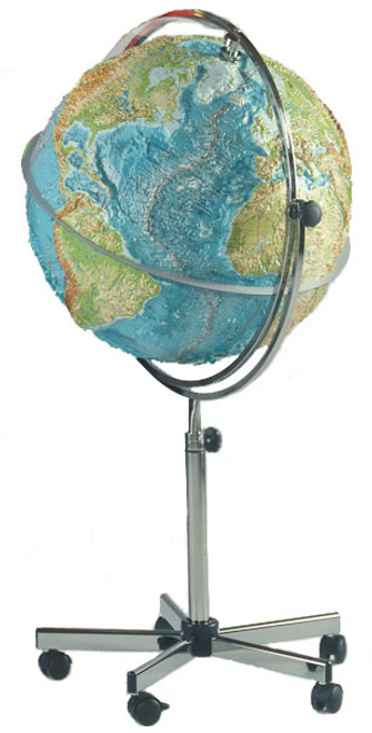 "The GEO One 25"" Extreme Raised Relief Classroom Floor Globe"