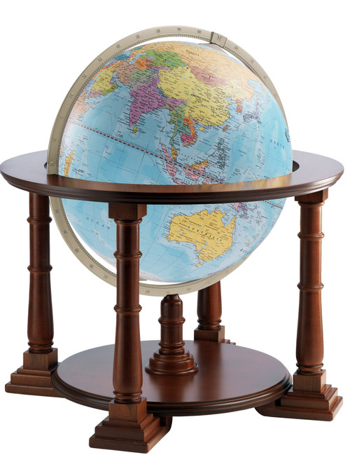 Mercatore 24 Inch Floor Globe - Blue Ocean