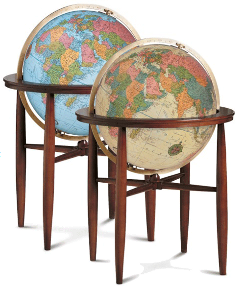 "The Finley Globe - 20"" Illuminated Floor Globe"