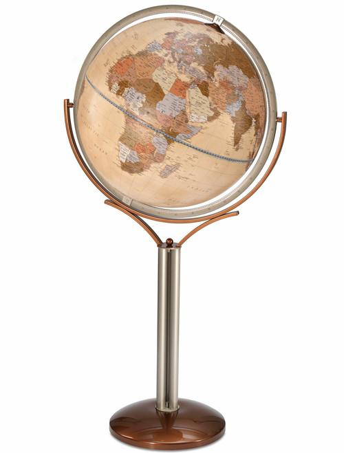 Magallano 24 Inch Floor Globe - Antique Ocean