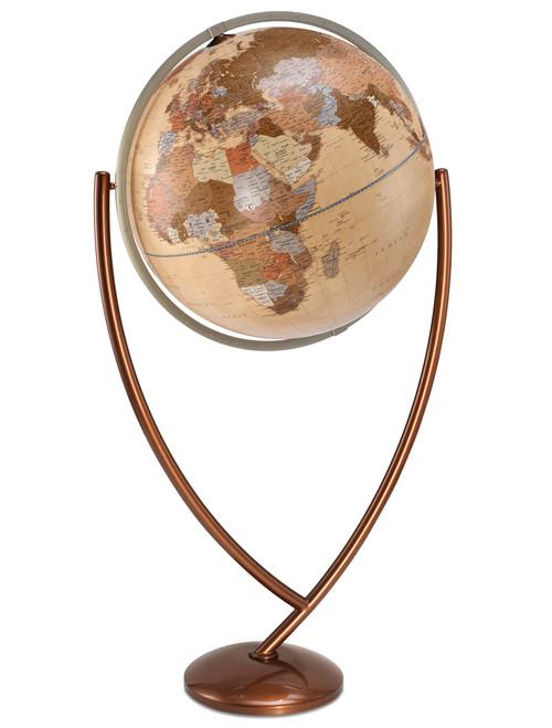 Columbo 24 Inch Floor Globe - Antique Ocean