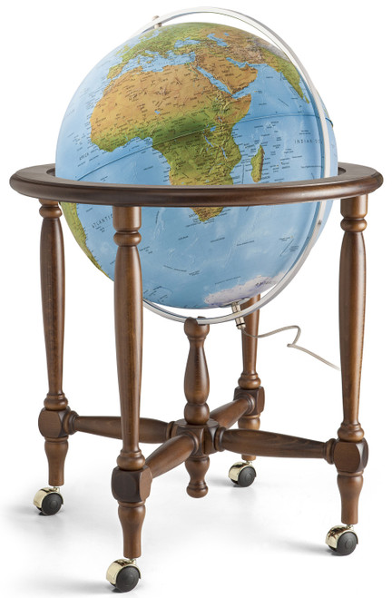 "The Monaco 20"" Blue Ocean Floor Globe"