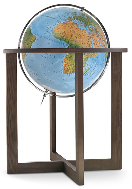 "The San Marino 20"" Blue Ocean Floor Globe"